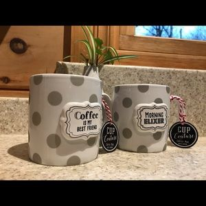 Set of 2 C.R. Gibson Cup Couture Mugs with Charms.
